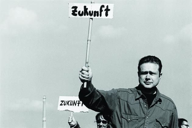 Christoph Tannert demonstriert für die Zukunft